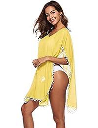 994799f01ad HITSAN INCORPORATION Bikini Cover Up Tassel Lace Crochet Swimsuit Beach  Dress Women Summer Ladies Cover-