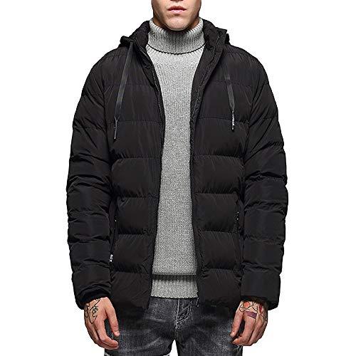 Zolimx Mode-Lederjacke Männer Herbst Winter Casual Pocket Reißverschluss thermische Jacke Top Coat...