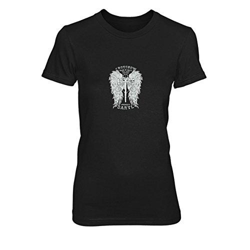 Daryl Wings - Damen T-Shirt Schwarz