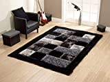 #4: Door mats for Home and Living Room II 20 Inch X 32 Inch II Black Grey by Global Home