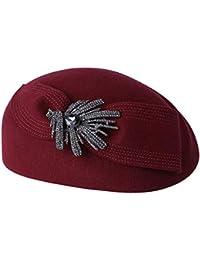 GMING-Hat Cappello Berretti Berretto Carino Cappello da Donna Cappello di  Feltro Cappello Stile Inglese Cappello Indossato in Primavera E… 073fc9dbb9f4