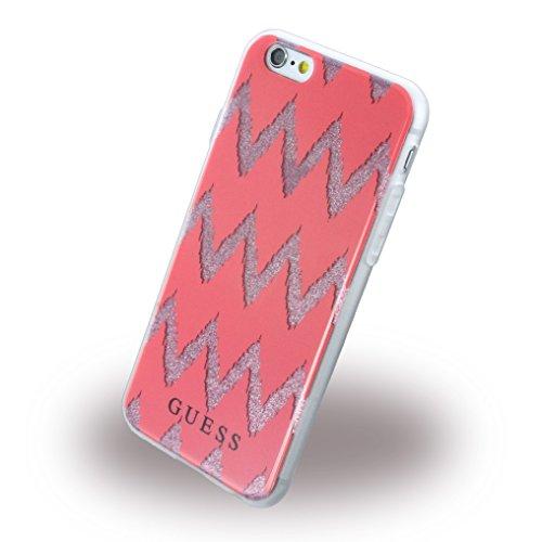 Guess GUHCP6CGPI Effekt 3D TPU Schutzhülle für Apple iPhone 6/6S rosa rot