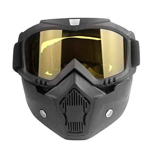 shuaishuang573 Motorrad Unisex Vintage-Halbhelm Reit Maske Off-Road-Windsicher Brille