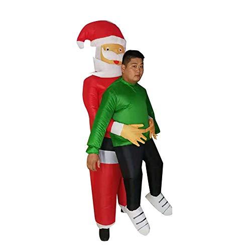 Katurn Aufblasbares Kostüm - Lustiges Aufblasbares Kostüm Santa Clauss Umarmen Lustige Showstützen Für Fasching - Exotische Santa Kostüm