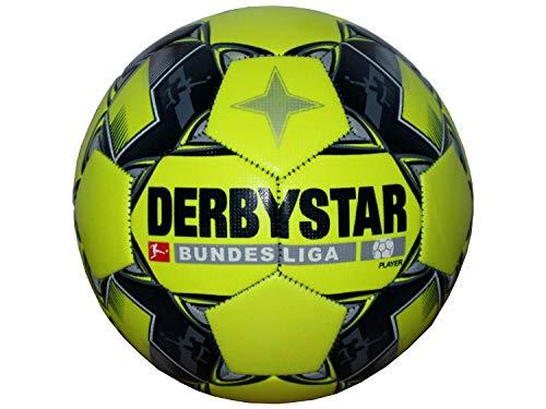 Derbystar Bundesliga - Balón de Fútbol para Jugador de Bundesliga, Color Amarillo Fluorescente