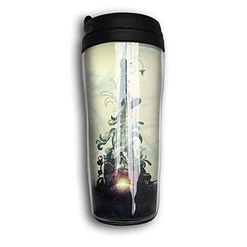 Eiffel Tower Art Design Travel Mug Coffee Thermos Stainless Steel Flask Water Bottle (Tower Eiffel Glas-set)
