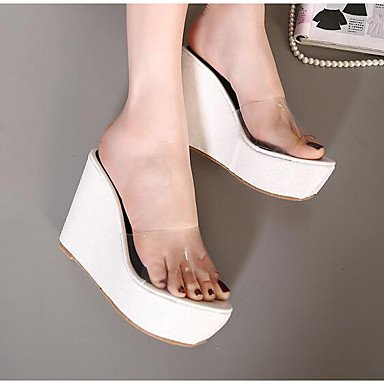 LvYuan Da donna-Sandali-Tempo libero-Altro-Zeppa-Finta pelle-Verde Rosa Bianco Argento Dorato Silver