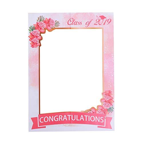 ion Paper Photo Frame Klasse von 2019 Photo Booth Requisiten Selfie Bilderrahmen Pose Zeichen Grad Prom Party Favors ()