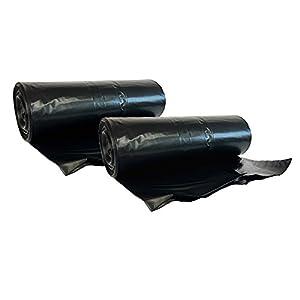 hocz 20 x 240 Liter Müllsack | reißfest extra stark ✔ | 10 stück auf Rolle | 20 Stück | 2 Rollen ✔ | Typ 021 | Müllsäcke Abfall-Säcke XXL Abfallbeutel | 70 μ Schwarz | LDPE | Müllbeutel