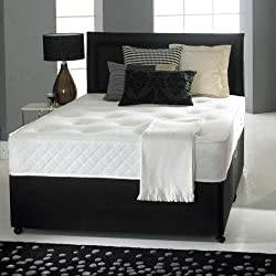 Reliance Ortho Divan bed doubel 4ft 6 with mattress and headboard and 2 drawers - Double (4'6)