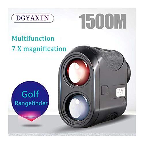 DGYAXIN Telemetro Laser Golf, Misuratori di Distanza 1500m, Funzione di Nebbia Impermeabile Multifunzione Angolo Altezza Verticale Misuratore, per Golf Sport Lavori Esterni Caccia