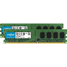 Crucial CT2KIT12864AA800 Kit Memoria da 2 GB (1 GBx2), DDR2, 800 MHz, PC2-6400, Unbuffered, DIMM, 240-Pin