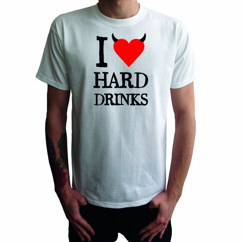 I don't love Hard Drinks Herren T-Shirt Weiß
