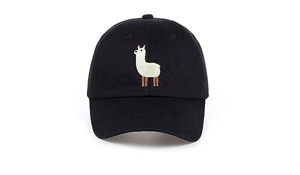 INF 2017 Unisex Alpaca Embroidery Adjustable Dad Hat Men Handsome Alpaca  Baseball Cap Women Cute Black Beige dad Cap  Amazon.in  Clothing    Accessories b72cc87db2d4