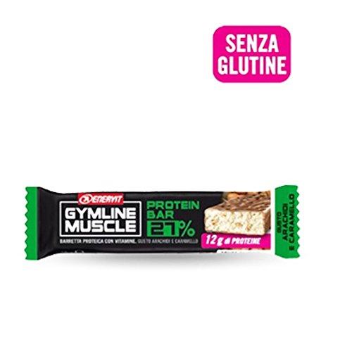 Enervit Gymline Muscle Protein Bar 27% Senza Glutine Arachidi E Caramello 45g