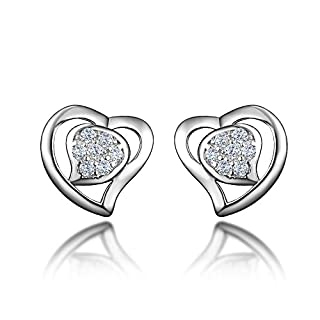 amberma Schönheit 925Sterling Silber Ohrringe, Damen Schmuck, Geschenke für Frauen Mädchen FRIENDS