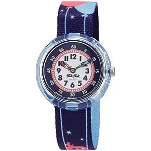 FlikFlak Mädchen Analog Quarz Uhr mit Stoff Armband FBNP123