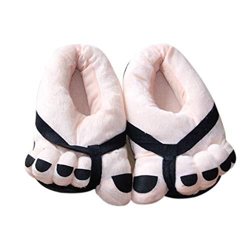 Hausschuhe Herren Damen Pantolette Winter Wärme Hüttenschuhe Unisex Große Füße Nette Carton Liebhaber Paar Schuhe Slipper Schuhe Plüsch Pantoffel Weiches Pantoffeln ABsoar -