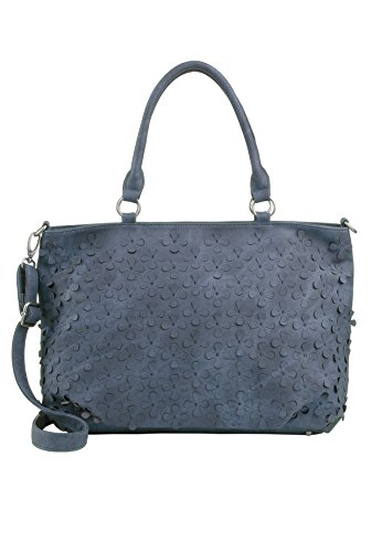 Leder-handtasche Tote-schulter-handtasche (Fritzi aus Preussen Damen Bettina Tote, Blau (Atlantic), 16x29x36 cm)