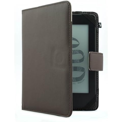 Proporta - Funda de cuero sintético con refuerzo de aluminio para Kindle, Kindle Paperwhite y Kindle Touch, color marrón