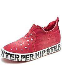 Zapatos Unisex para niños Zapatillas de Deporte Transpirables Denim Cómodo Casual CanvasShoes