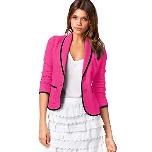 VECDY Damen Jacken,Räumungsverkauf- FrauBusiness Mantel Blazer Anzug Langarmshirts Slim Jacket Outwear Größe S-6XL Lässige warme Jacke -