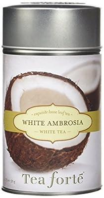 Tea Forté White Ambrosia–Thé, Thé Blanc dans une boîte cadeau, pack de 1(1x 50g)