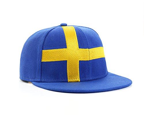 Underground Kulture Schweden Blau Snapback Baseballkappe Baseball Cap Baseballmütze...