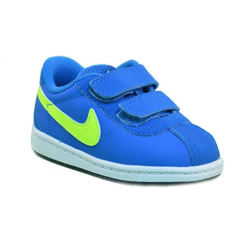 Nike - Nike Brutez Plus (TD) Scarpe Sportive Bambino Pelle Azzurre Strappi 535450 - Azzurro, 25