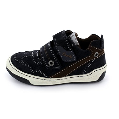 Lurchi Bruce Kinder Sneaker aus Veloursleder in blau Größe 27 42 Atlantic Brown -