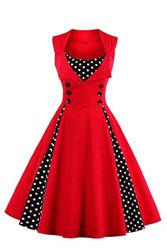 Babyonlinedress Vestido de mujer estilo vintage para otoño fiesta de noche con gran swing