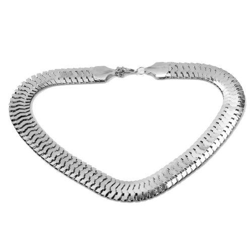 elegante-gargantilla-babero-fornido-link-chain-choker-collar-joyeria-para-mujer