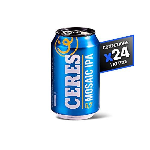Ceres Mosaic Ipa - Birra Ambrata - IPA Premium ad Alta Fermentazione - Cartone 24 Lattine da 33 cl