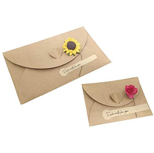 Zmda, biglietto di auguri fai da te con fiori secchi, biglietto di auguri per san valentino, festa di compleanno, regalo di benedizione, biglietto abbinato.