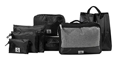 HAUPTSTADTKOFFER - Packhilfe - Kofferorganizer Set 7-teilig, 2 multifunktionale Organizer-Taschen (M + L), Kosmetiktasche, Schuhtasche, 3 kleine Utensilien-Taschen