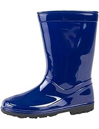 Kids Boys Girls Mid Calf Rain Snow Boots Wellies Wellingtons Wellys Childrens Shoes Size UK 5-2