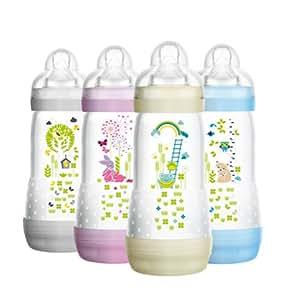 MAM Easy Star Biberon anti-colique 4 mois et + Assortiment de couleurs 320 ml