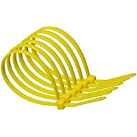 100mm x 2.5mm Yellow Nylon Cable Ties (pack of 10)