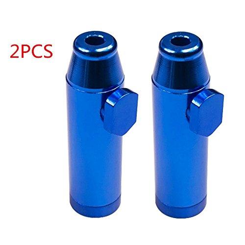 ZCGYL 2Pcs Tabac à Priser Distributeur Sniffer Pipe Nasal Bullet Snuff Snorter Rocket Forme Métal