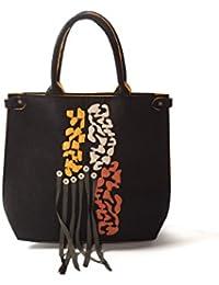 Comounaregadera Ubuntu, Bolso de Mano para Mujer, Negro (Black), 10x45x39 cm (W x H x L)