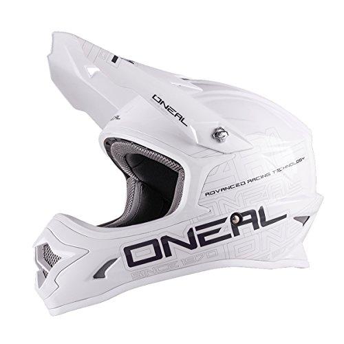 O\'Neal 3 Series Motocross Enduro MTB Helm Flat weiß/schwarz 2018 Oneal: Größe: XL (61-62cm)