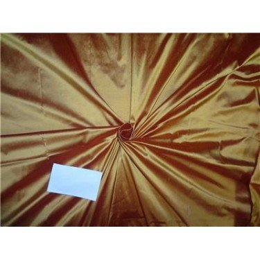 Reine Seide Dupionseide Stoff gold X rot = Sunset Farbe 137,2cm by the Yard