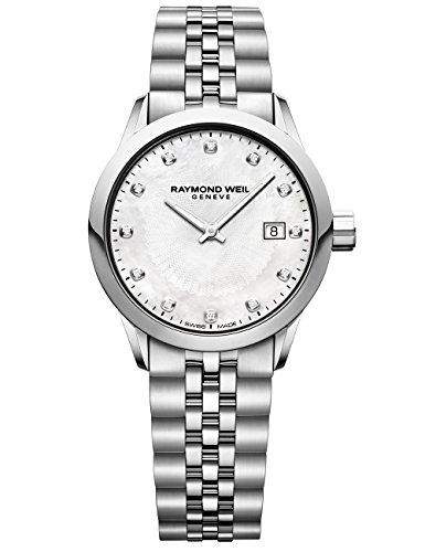 Raymond Weil 'Freelancer orologio al quarzo acciaio INOX casual, donna, colore: tonalità argentata (Model: 5629-st-97081)