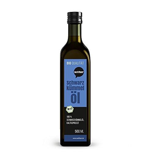 Wohltuer Bio Schwarzkümmel Öl Kaltgepresst in Rohkostqualität, 500 ml