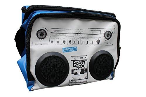 Kühltasche mit Soundsystem, Boom Box Kühltasche, Picknicktasche mit Lautsprecher, MP3-Player, iPhone, iPod, Smartphone verwenden,16,5Liter Kapazität, bis zu 12x 330 ml Flaschen aufhaltet