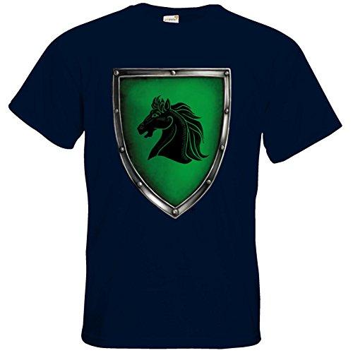 getshirts - Das Schwarze Auge - T-Shirt - Die streitenden Königreiche - Wappen Teshkal Navy