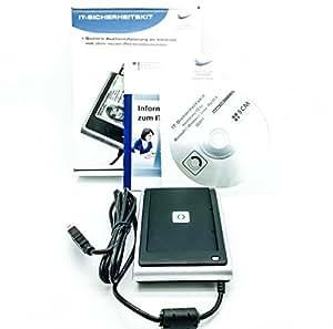 SCM SDI011 Dual Interface SmartCard Reader zum Lesen kontaktloser und kontaktbehafteter Chipkarten (neuen Personalausweis, HBCI Banking Sicherheitszutritt etc.) BSI Zertifizert