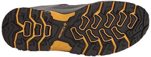 Columbia Mens Granite Ridge Waterproof Hiking Sneaker Dark Grey, Golden Yellow