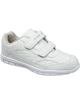 GIBRA® Sportschuhe mit weißer Sohle und Klettverschluss, weiß, Gr. 36-41