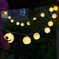 Uping battery operated LED Fairy Lights 2 Mode String light 20 Lampion Lantern 4.2M Warm White for Indoor Outdoor Party Garden Christmas Halloween Wedding Home Bedroom Yard Deck Decoration